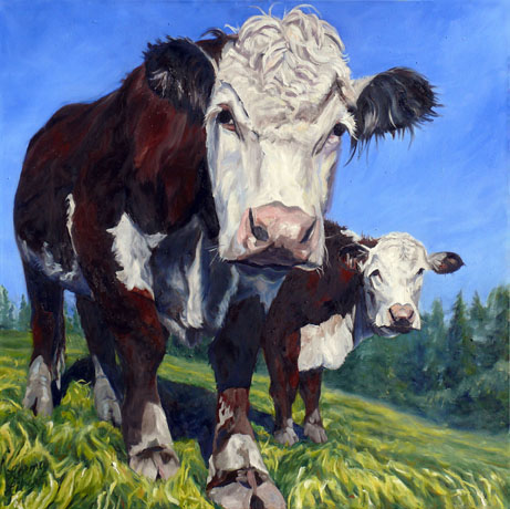 The Cows Came Home, Lorna Libert, 48 x 48